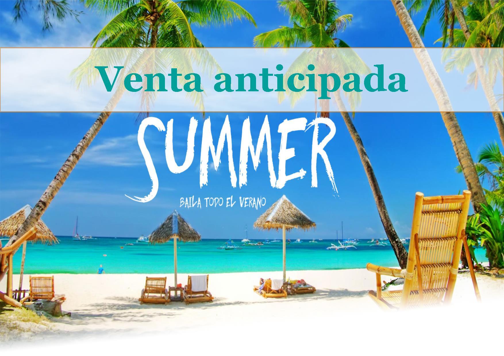 Venta anticipada verano. Caribe e Islas. España.